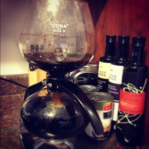 The Cona coffee maker. (Jenna Tenn-Yuk)