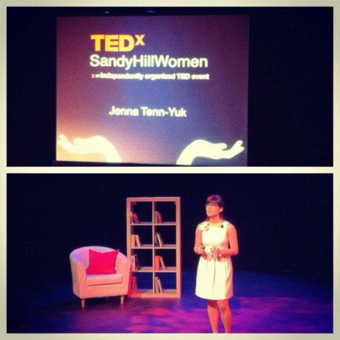 Speaking at TEDxSandyHillWomen. (Terri Figuereido)