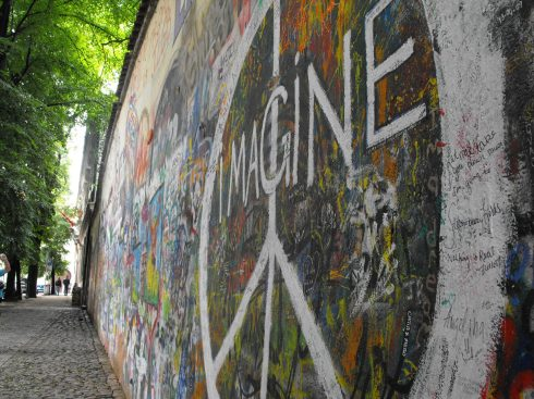 The Lennon Wall in Prague. (Jenna Tenn-Yuk)