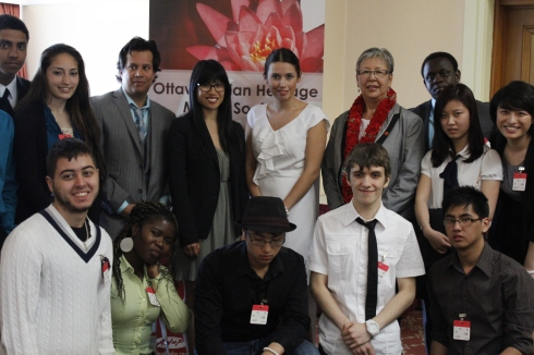 Panelists and students at the breakfast. (Robyn Plane)