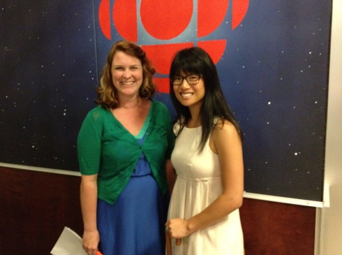 Robyn Bresnahan and I at CBC.