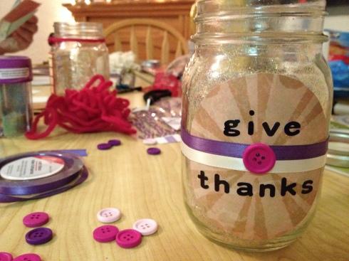 My gratitude jar! (Jenna Tenn-Yuk)